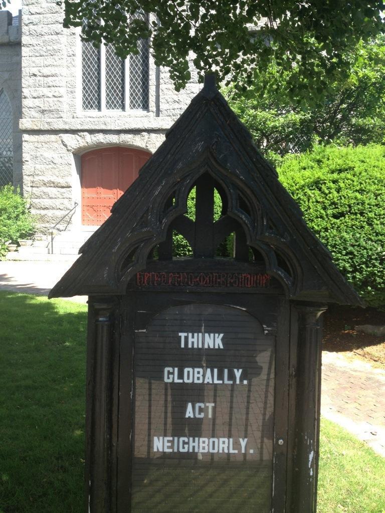 Love it! Gotta love the Unitarian perspective.