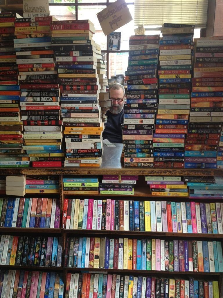 This bookstore was just amazing, with its 8' tall stacks of books