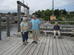 Dad, Jean and I, on the coast of Maine, summer 2013.