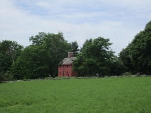 Rebecca Towne Nurse Homestead, the house from across the alfalfa field
