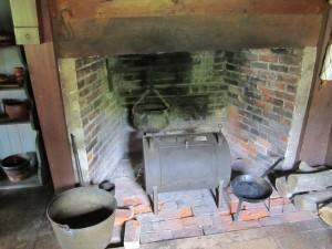 Rebecca Towne Nurse Homestead, the cooking fireplace on 1st floor of the house