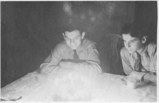 Dad (Henry) on right, Uncle Roger on left, ages 12 and 14, 1937.