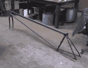 "Building art bike ""Big Red"""